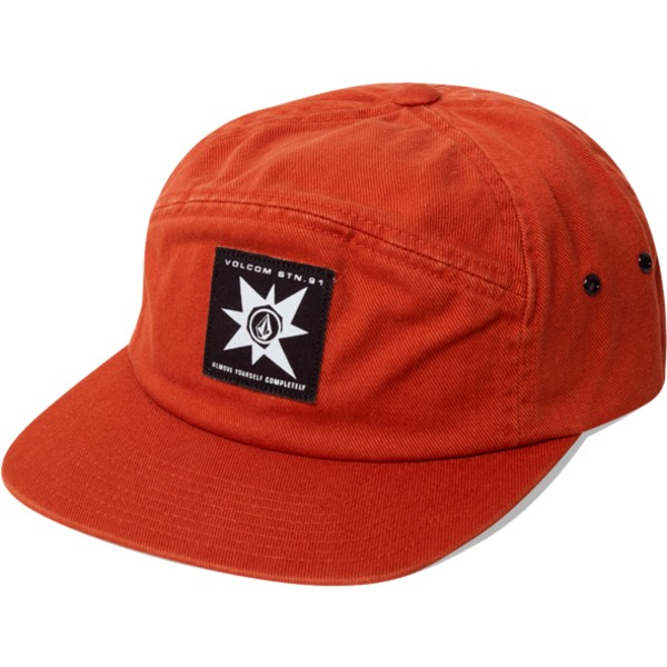 volcom-5-panel-hazelnut-ap-brown-cap