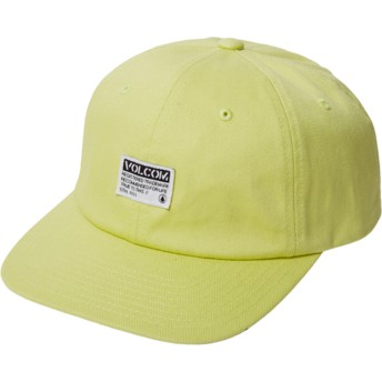 Volcom Curved Brim Shadow Lime Case Yellow Adjustable Cap