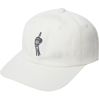 Volcom Curved Brim Dirty White Finger White Adjustable Cap