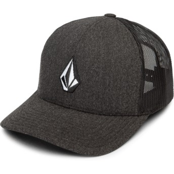 Volcom Charcoal Heather Full Stone Cheese Black Trucker Hat