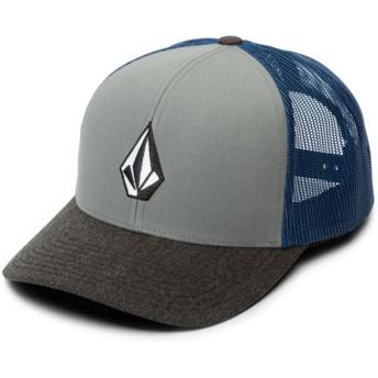 Volcom Used Blue Full Stone Cheese Blue Trucker Hat