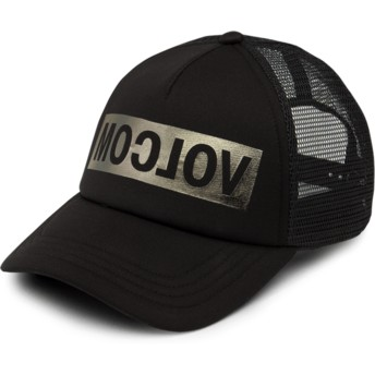Volcom Black Tagurit Black Trucker Hat