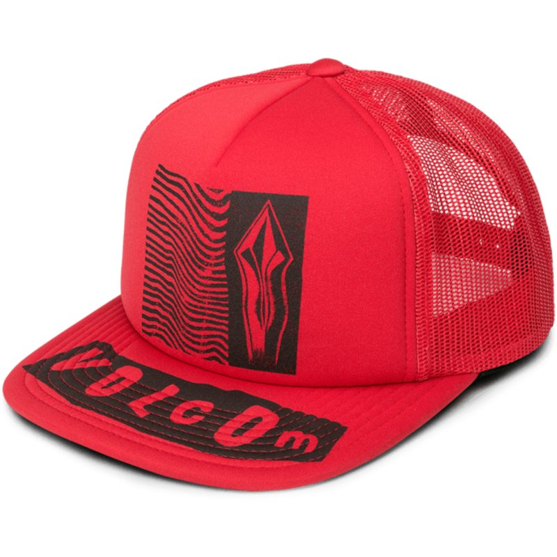 purchase cheap 07e22 3e60a volcom-rad-red-stonar-waves-red-trucker-hat