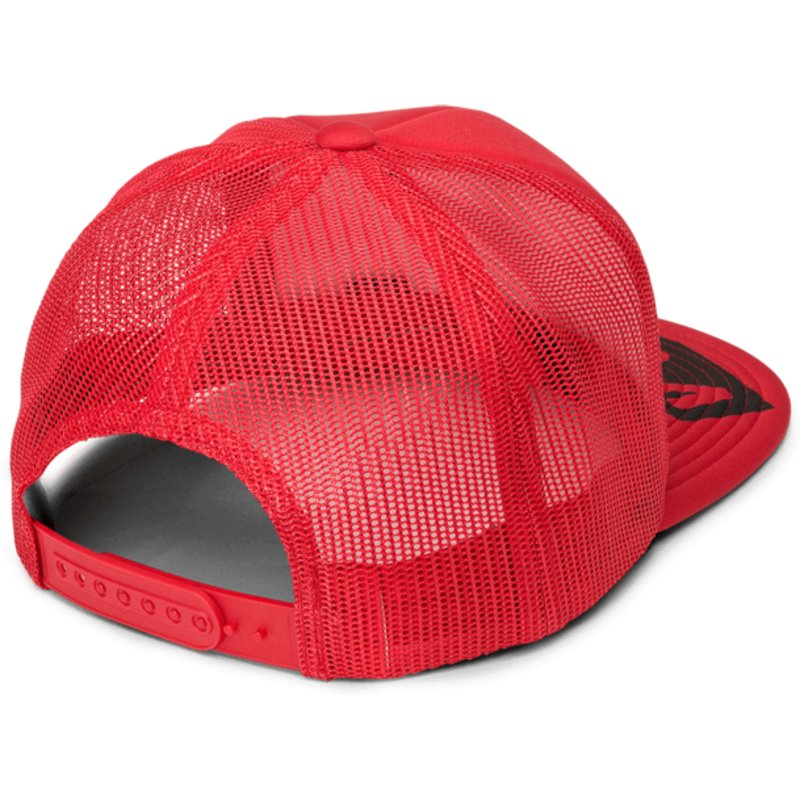 6e2f4063 Volcom Rad Red Stonar Waves Red Trucker Hat: Shop Online at Caphunters