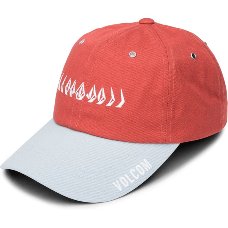 11311fa8 ... shopping volcom curved brim copper splat red adjustable cap e35e5 13399