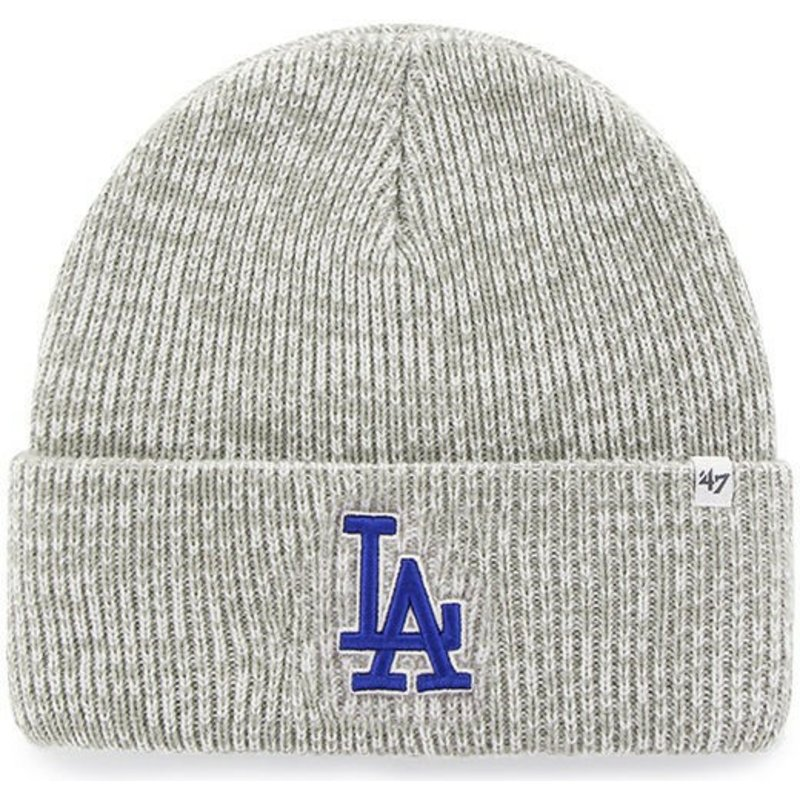 47-brand-los-angeles-dodgers-mlb-cuff-knit-brain-freeze-grey-beanie