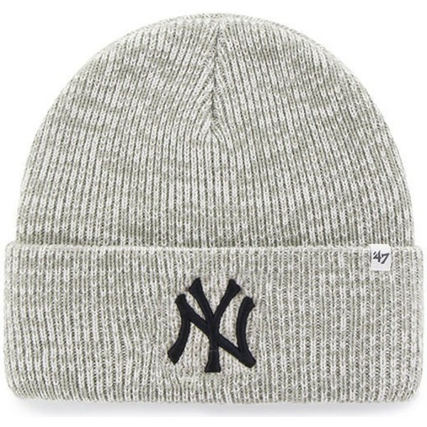 47-brand-new-york-yankees-mlb-cuff-knit-brain-freeze-grey-beanie