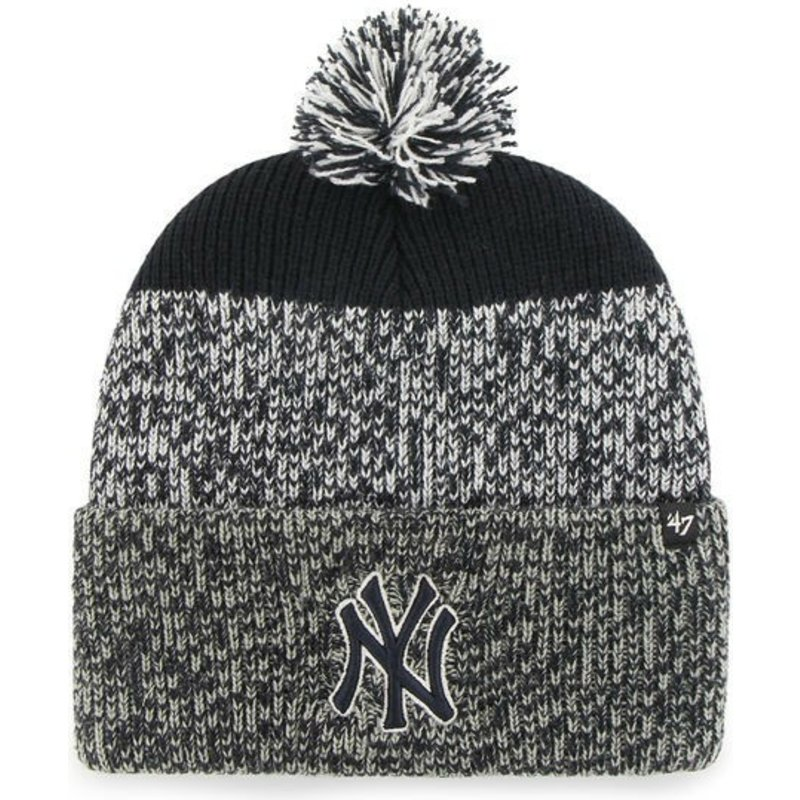 47 Brand New York Yankees MLB Cuff Knit Static Grey and Navy Blue ... db942ecba23d