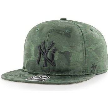 47 Brand Flat Brim New York Yankees MLB Captain Jigsaw Camouflage Snapback Cap