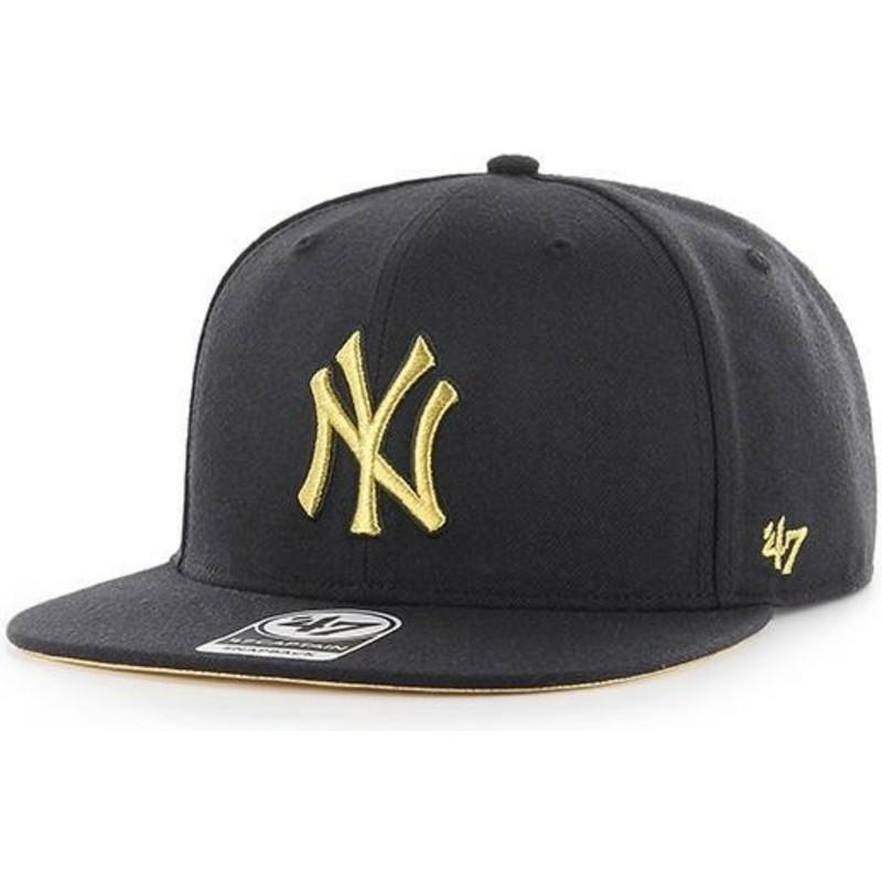 58a8a07e148 ... Era MLB New York Yankees Gold badge Snapback Hat DTLR  good quality  84fcd 1cab0 47-brand-flat-brim-gold-logo- ...