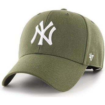 47 Brand Curved Brim New York Yankees MLB MVP Brown Cap
