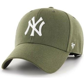 47 Brand Curved Brim New York Yankees MLB MVP Brown Cap