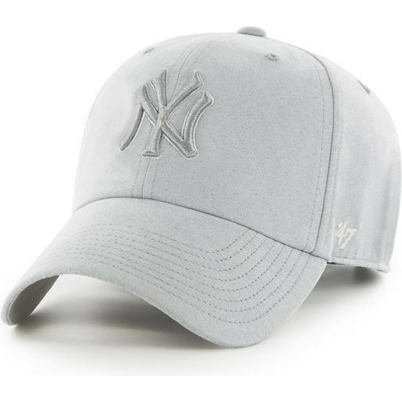 ad734fcccfed8 47 Brand Curved Brim Grey Logo New York Yankees MLB Clean Up Ultra ...