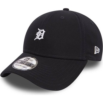 New Era Curved Brim 39THIRTY Mini Logo Detroit Tigers MLB Maroon Fitted Cap