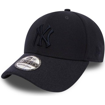 New Era Curved Brim Navy Blue Logo 39THIRTY Club Coop New York Yankees MLB Navy Blue Fitted Cap