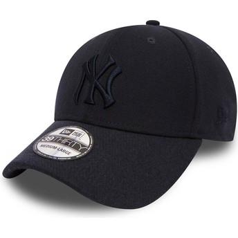New Era Curved Brim Navy Blue Logo 39THIRTY Club Coop New York Yankees MLB Navy Blue Fitted Cap