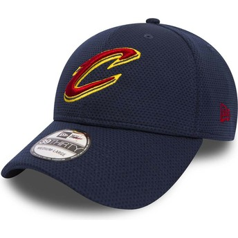 New Era Curved Brim 39THIRTY Sport Mesh Cleveland Cavaliers NBA Blue Fitted Cap