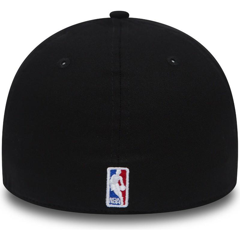 New Era Curved Brim 39THIRTY Black Base Golden State Warriors NBA ... 3b8e1eb3829