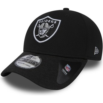 New Era Curved Brim 39THIRTY Shadow Tech Oakland Raiders NFL Stone Fitted Cap