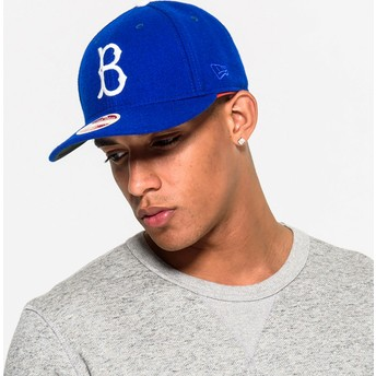 New Era Curved Brim 59FIFTY Relocation Brooklyn Dodgers MLB Blue Fitted Cap