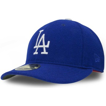 New Era Curved Brim 59FIFTY Relocation Los Angeles Dodgers MLB Blue Fitted Cap