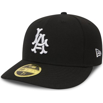 New Era Curved Brim 59FIFTY Coop Wool Los Angeles Dodgers MLB Black Fitted Cap