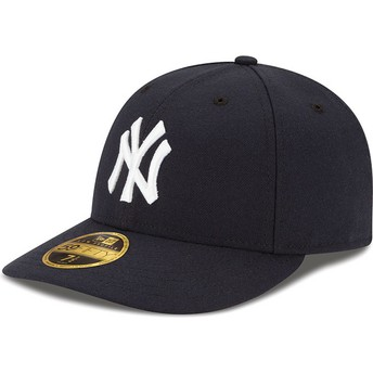 New Era Curved Brim 59FIFTY Low Profile Authentic New York Yankees MLB Navy Blue Fitted Cap