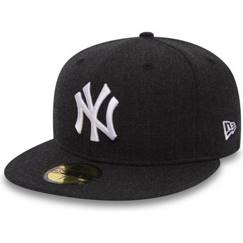 New Era Flat Brim 59FIFTY Seasonal Heather New York Yankees MLB Black Fitted Cap