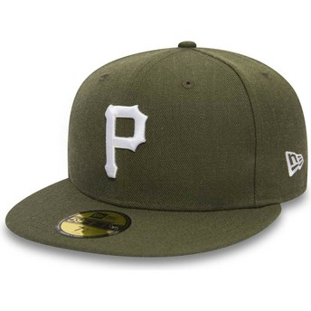 New Era Flat Brim 59FIFTY Seasonal Heather Pittsburgh Pirates MLB Green Fitted Cap