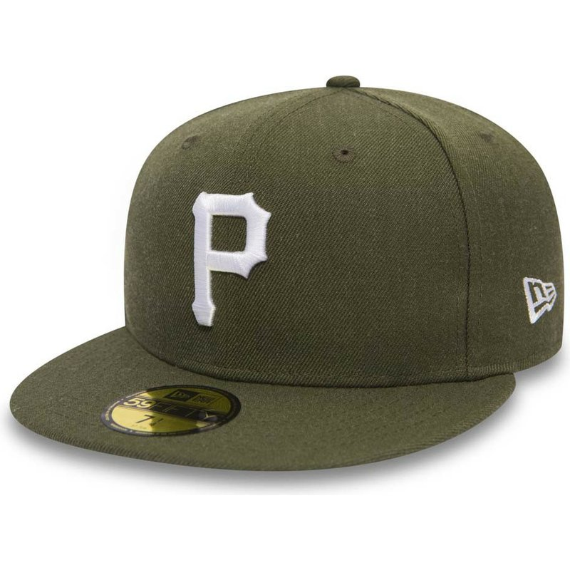 New Era Flat Brim 59FIFTY Seasonal Heather Pittsburgh Pirates MLB ... f6c48e5f765