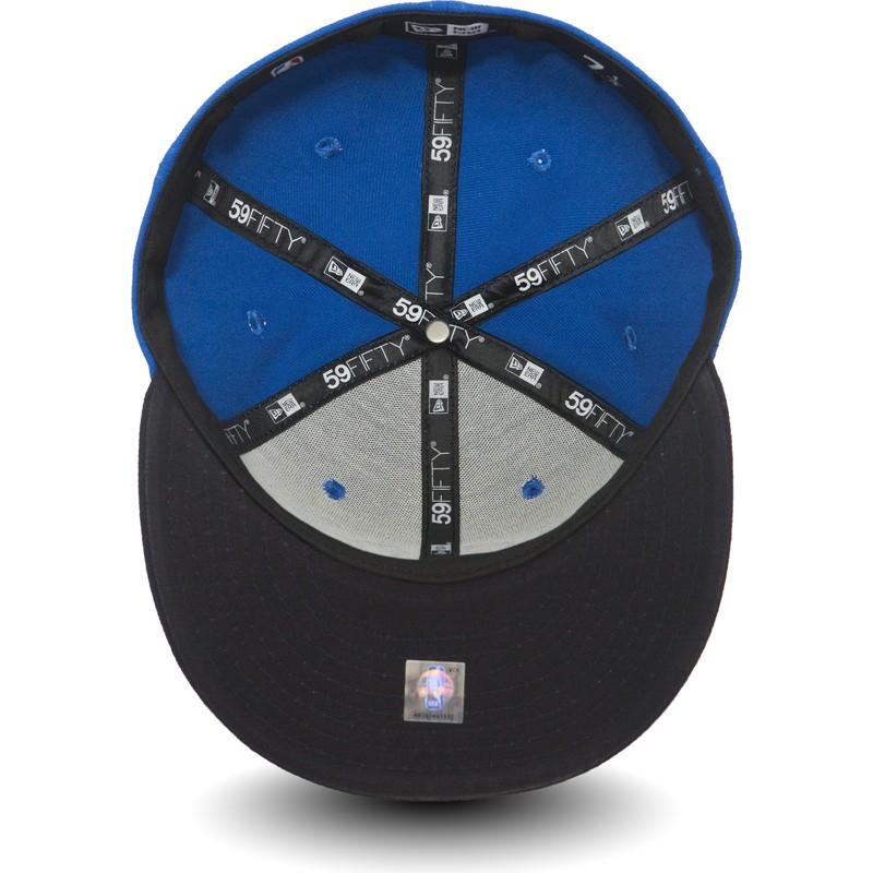 New Era Flat Brim 59FIFTY Oklahoma City Thunder NBA Blue and Black ... 8de2547ca973