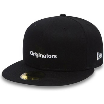 New Era Flat Brim 59FIFTY True Originators Black Fitted Cap