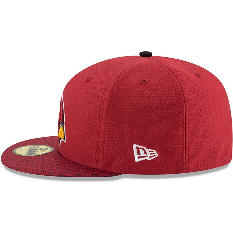 4b9e0634562 New Era Flat Brim 59FIFTY Sideline Arizona Cardinals NFL Red Fitted ...