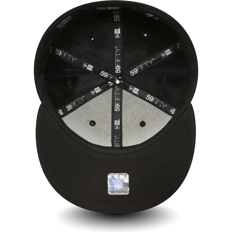 1eb76a84654 ... Seahawks NFL Black Fitted Cap. new-era-flat-brim-59fifty-black-coll- seattle-