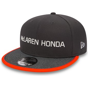 New Era Flat Brim 9FIFTY Fernando Alonso McLaren Racing Formula 1 Grey Snapback Cap