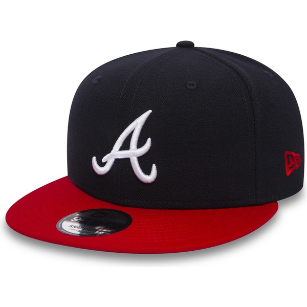 new-era-flat-brim-9fifty-atlanta-braves-mlb-black-and-red-snapback-cap