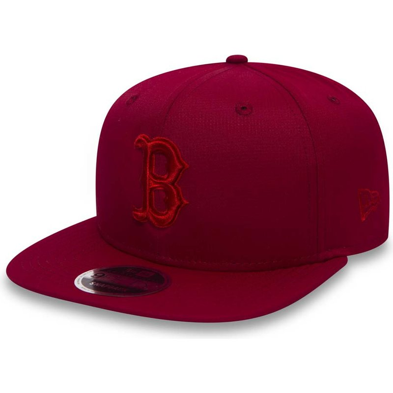 100c4cbb69dc7 New Era Flat Brim Red Logo 9FIFTY Nano Ripstop Boston Red Sox MLB ...