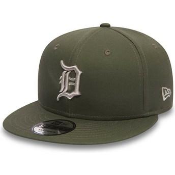 New Era Flat Brim 9FIFTY League Essential Detroit Tigers MLB Green Snapback Cap