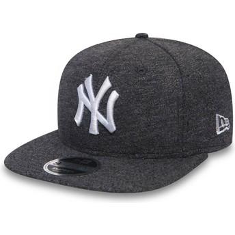 New Era Flat Brim 9FIFTY Slub New York Yankees MLB Grey Snapback Cap