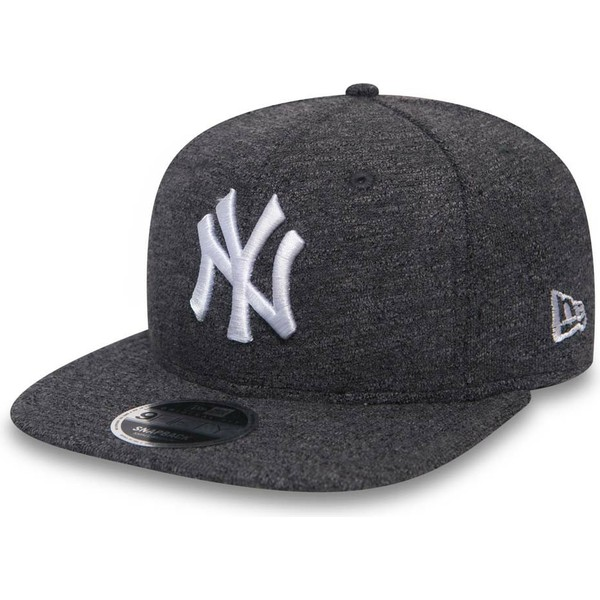 new-era-flat-brim-9fifty-slub-new-york-yankees-mlb-grey-snapback-cap