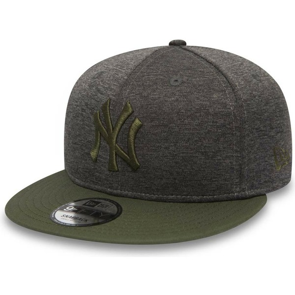 21db5c11fc6 New Era Flat Brim Green Logo 9FIFTY Heather Jersey New York Yankees ...