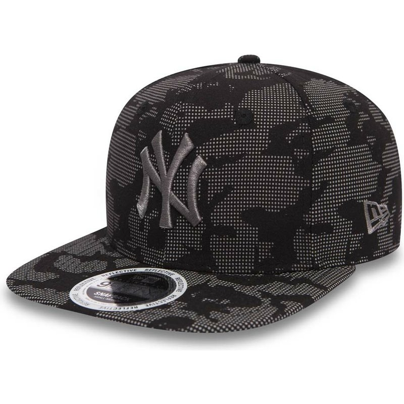 ... sweden new era flat brim grey logo 9fifty night time reflective de new  york yankees mlb f5213ded5d3a