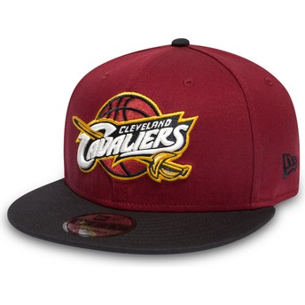 New Era Flat Brim 9FIFTY Cleveland Cavaliers NBA Red and Black Snapback Cap