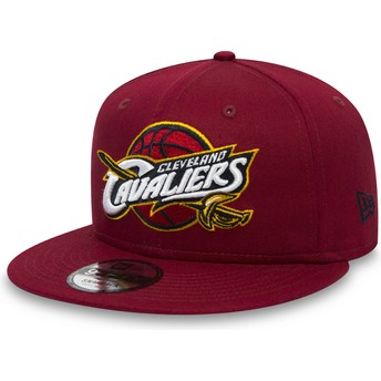 New Era Flat Brim Youth 9FIFTY Classic Cleveland Cavaliers NBA Red Snapback Cap