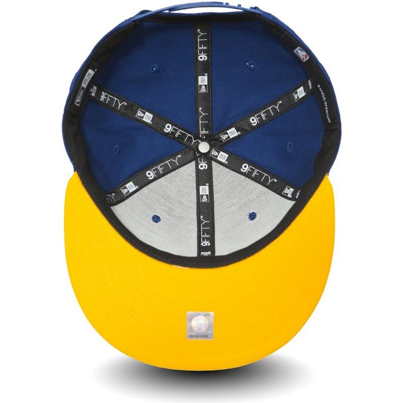 e1e253f38 New Era Flat Brim 9FIFTY Golden State Warriors NBA Blue and Yellow ...