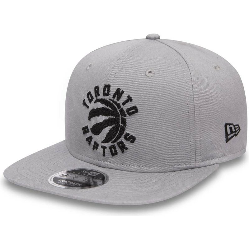 b802c1c61eb New Era Flat Brim 9FIFTY Chain Stitch Toronto Raptors NBA Grey ...