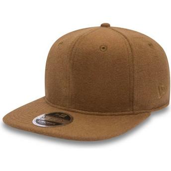 New Era Flat Brim 9FIFTY Premium Classic Brown Adjustable Cap
