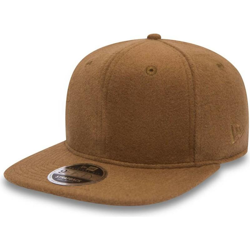 ede4509cd1a New Era Flat Brim 9FIFTY Premium Classic Brown Adjustable Cap  Shop ...
