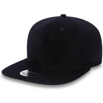 New Era Flat Brim 9FIFTY Premium Classic Navy Blue Adjustable Cap
