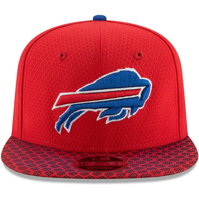 5adc9bb5659d6 New Era Flat Brim 9FIFTY Sideline Buffalo Bills NFL Red Snapback Cap ...